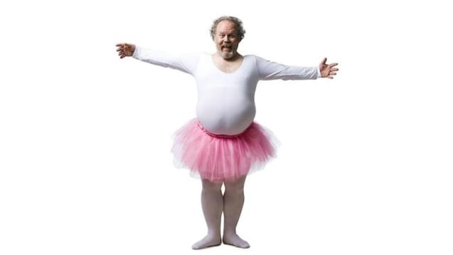 State of course creation - A man wearing a ballerina dance costume